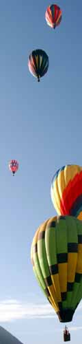 Hot air balloons and the Wasatch Mountains